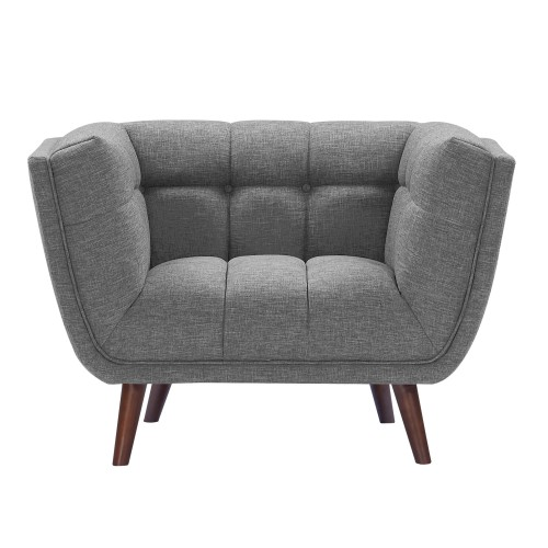 acheter fauteuil gris pieds bois
