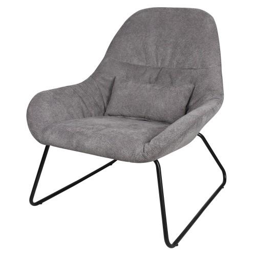 acheter fauteuil gris pieds metal