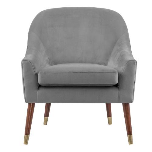 acheter fauteuil gris velours