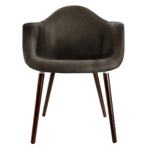 acheter fauteuil noir vieilli