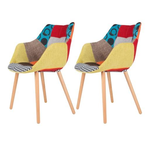 acheter fauteuil patchwork colore
