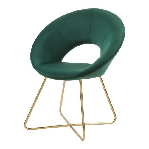 acheter fauteuil velours vert fonce