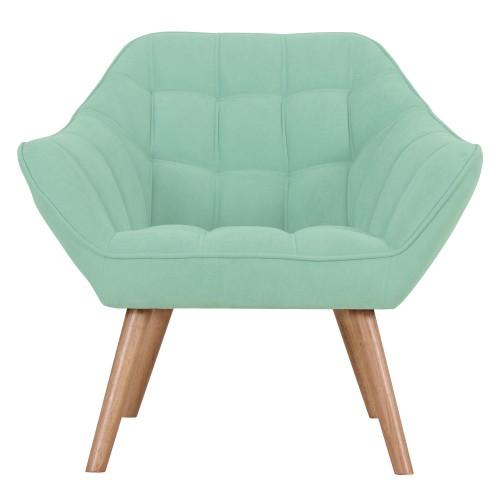 acheter fauteuil vert d eau pieds bois