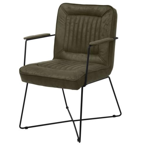 acheter fauteuil vert tissu