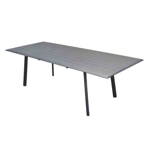 Table de jardin extensible 240 cm Tampa grise