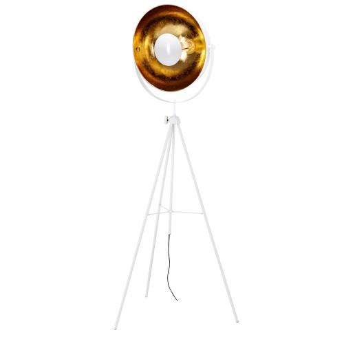 acheter lampadaire blanc a trepied