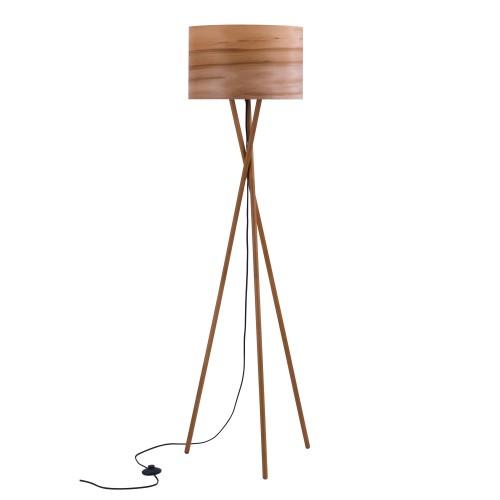 acheter lampadaire bois clair design