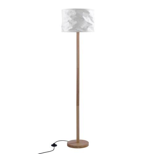 acheter lampadaire en bois et papier blanc