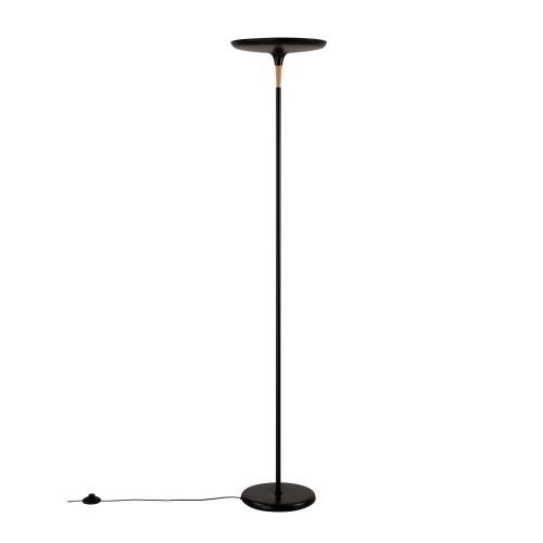 acheter lampadaire led noir