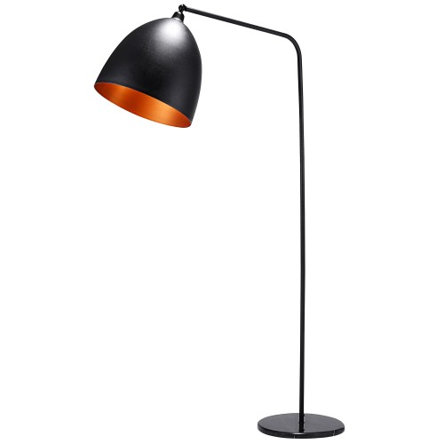 acheter lampadaire noir et cuivre