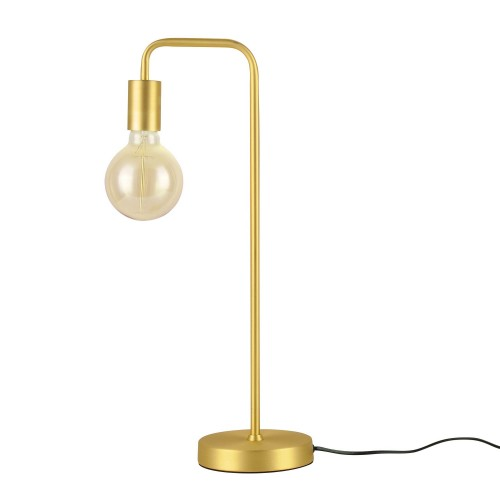 acheter lampe a poser metal finition doree