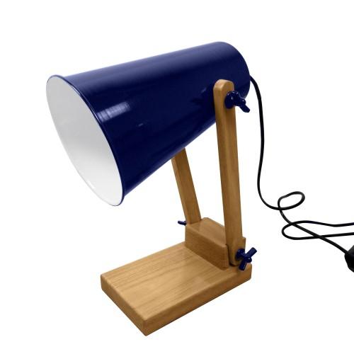 acheter lampe de bureau a poser bleu-fonce