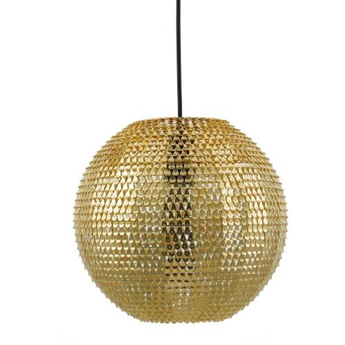acheter lampe suspendue doree
