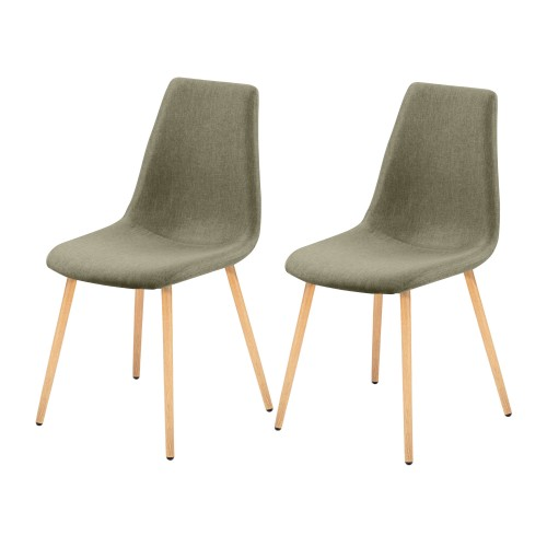 Chaise Aleksi taupe (lot de 2)