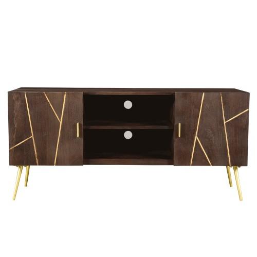 acheter-meuble-tv-bois-et-laiton