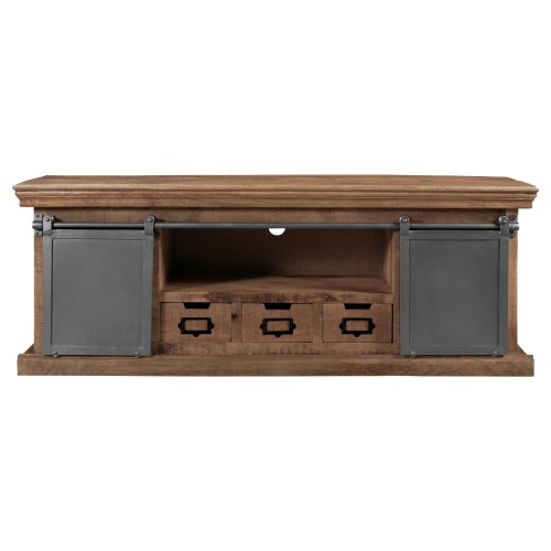 acheter meuble tv bois et metal