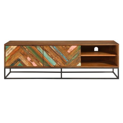 acheter meuble tv bois fonce