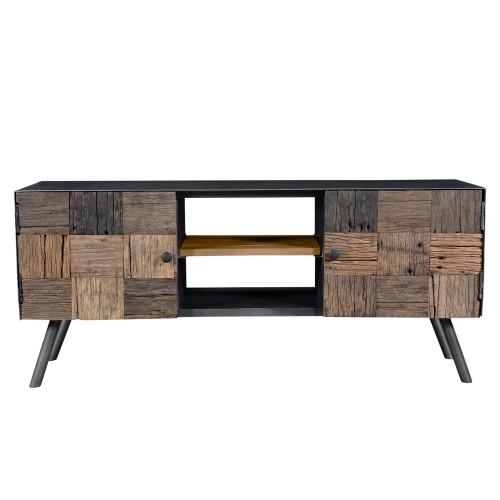 acheter meuble tv en bois brut