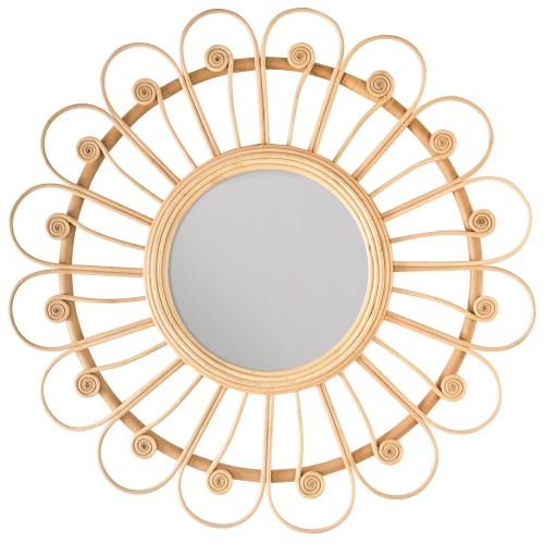 Miroir en rotin Bardot Ø 87 cm