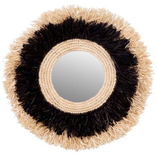 Miroir en sisal Chiva Ø 66 cm