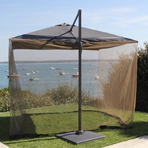 Moustiquaire pour parasol déporté 3x3m