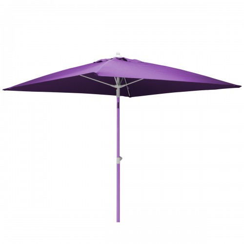 Parasol droit Doris 2x2 m violet