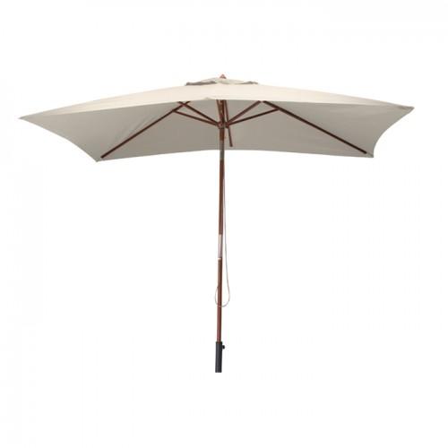 acheter parasol ecru toile et bois