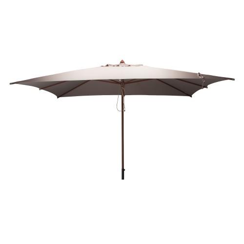 acheter parasol en bois et toile taupe