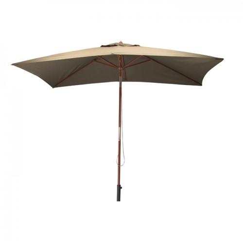 acheter parasol taupe en bois