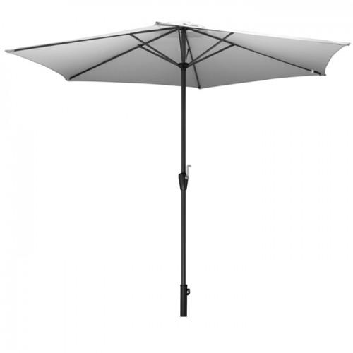 acheter parasol toile ecru avec manivelle