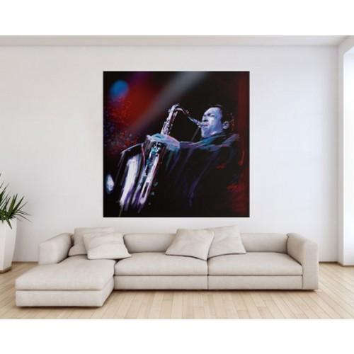 acheter poster 150x150cm musicien pas cher
