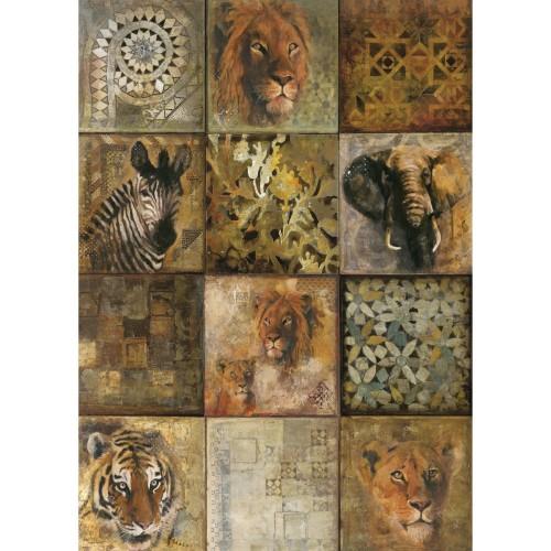 Poster Safari en papier 50 x 70 cm