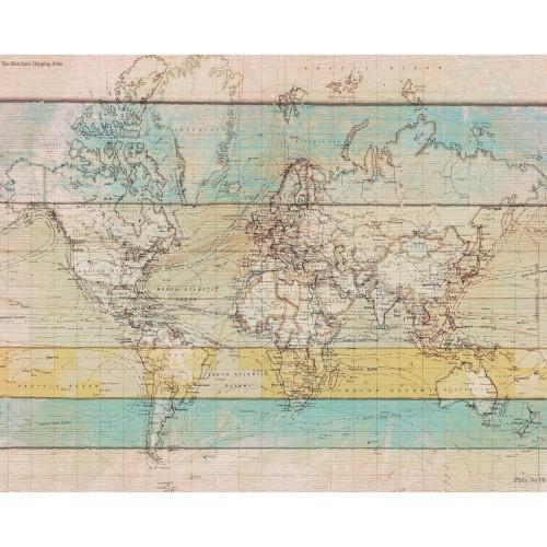 acheter poster carte monde papier