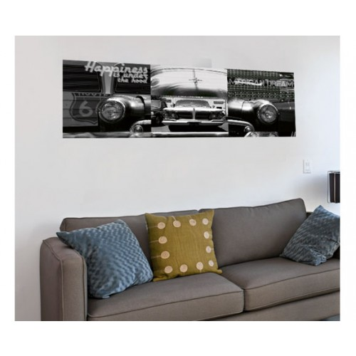 acheter poster horizontal 150x50 cm voiture pas cher
