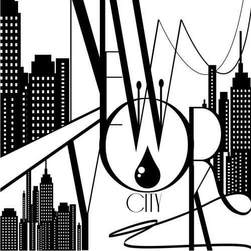 acheter poster new york dessin noir et blanc 150x150cm