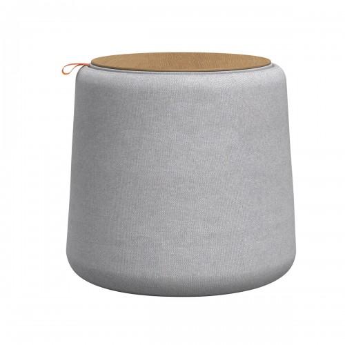 acheter pouf avec coffrage gris clair