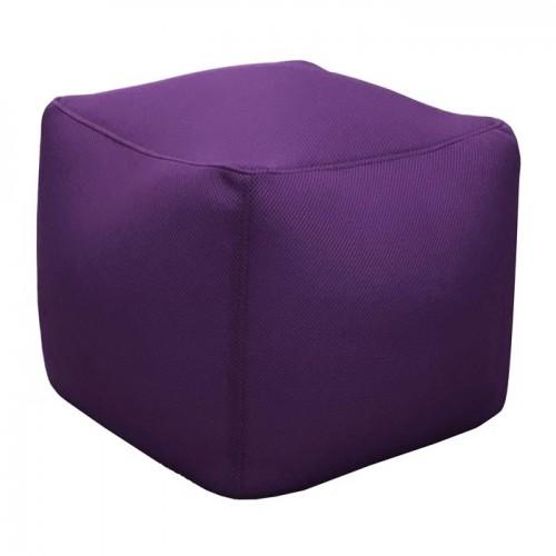 Pouf cube Buga aubergine