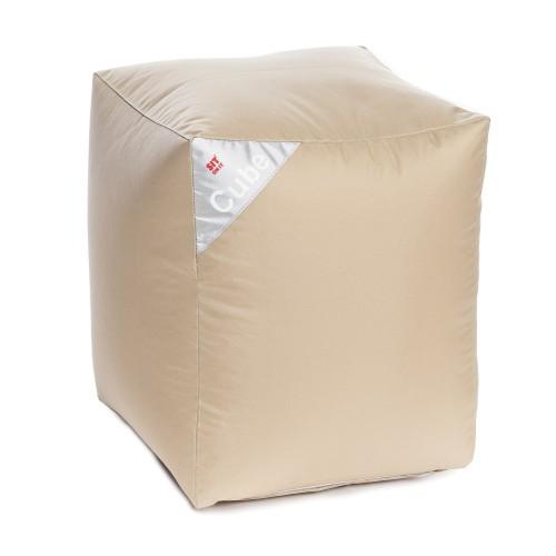 acheter pouf cube beige carre