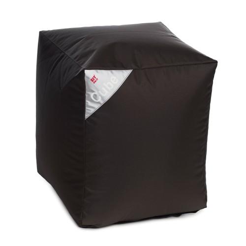 acheter pouf cube gris fonce carre