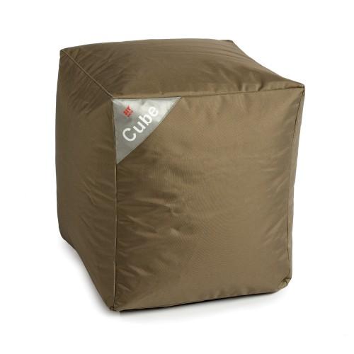 acheter pouf cube kaki carre