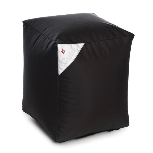 acheter pouf cube noir carre