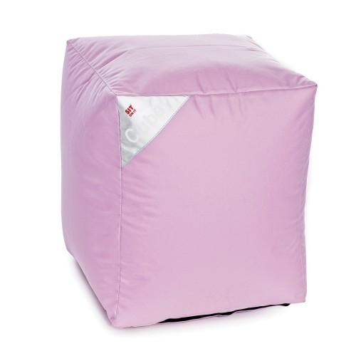 acheter pouf cube rose carre