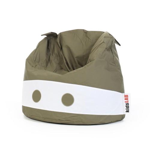 Pouf kaki adapté aux enfants - Kidy