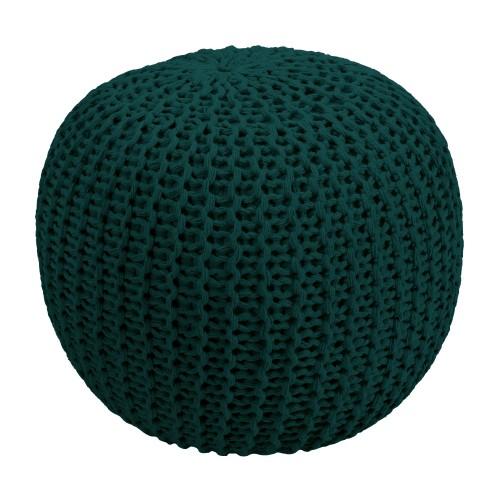 acheter pouf rond vert sapin tricot