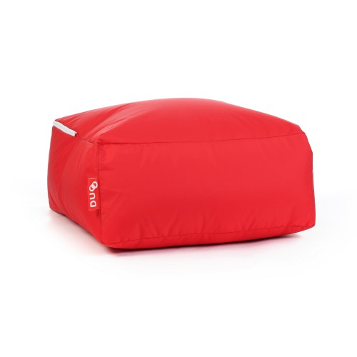 Pouf carré Duo rouge