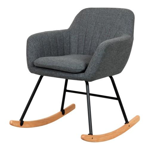 acheter rocking chair gris tissu
