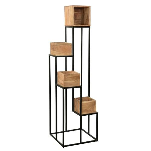 acheter support plante en bois e metal