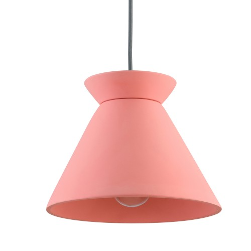 Suspension rose Izac en béton ∅ 26cm