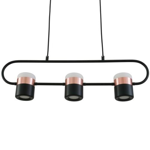 acheter suspension en metal noir et cuivre