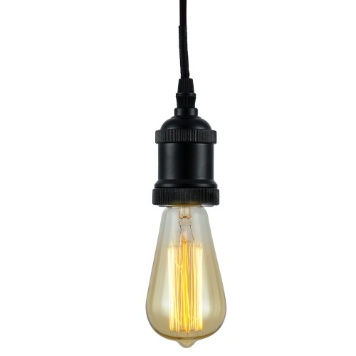 Suspension Thya noire (ampoule incluse)